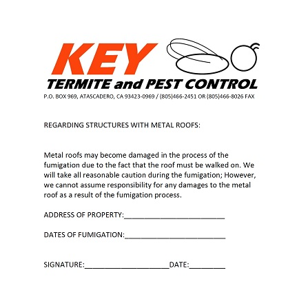 Fumigation Information  Key Termite And Pest Control Inc